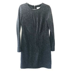 Soft Grey knee length sweater dress by Lou & Grey